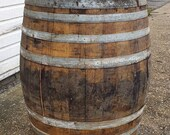 EXTRA LARGE Oak Bourbon Scotch Whisky Whiskey Wine Barrel - Home Bar, Table, Garden Decoration, Social Distancing Barriers,
