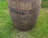 Reclaimed White Oak Whiskey Cask Barrel Keg - Rustic Bourbon Scotch