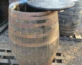 Lid Removed Giant big extra large whiskey whisky scotch bourbon oak barrel ice bath plunge pool water butt puncheon