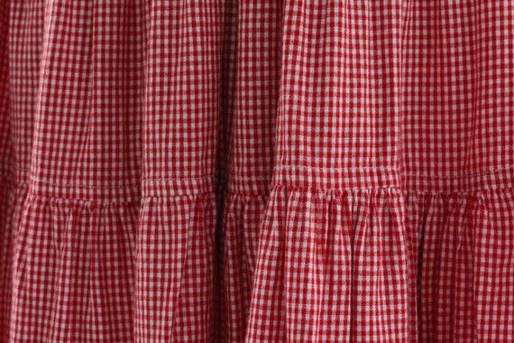 80s Gingham Western Ruffle Skirt - image 9