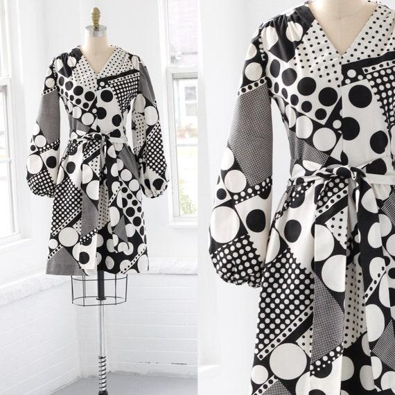60s Atomic Age Mod Babydoll Dress
