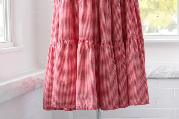 80s Gingham Western Ruffle Skirt - image 8