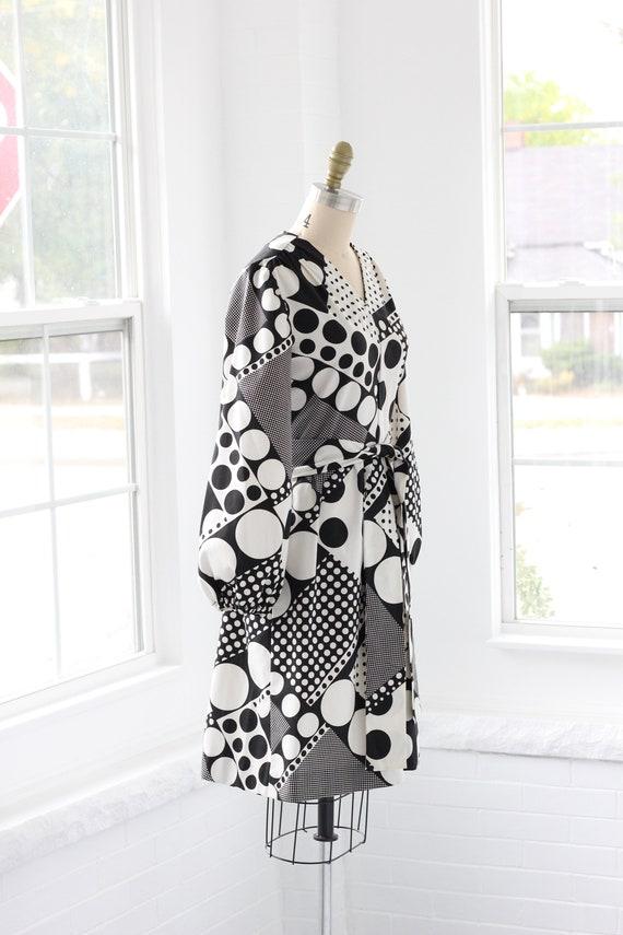 60s Atomic Age Mod Babydoll Dress - image 4