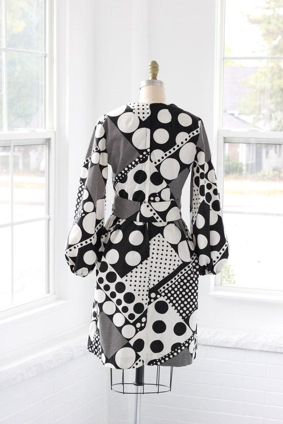 60s Atomic Age Mod Babydoll Dress - image 5