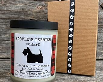 Scottish Terrier candle, Scotty dog candle, dog themed candle, Scottie Dog candle