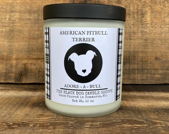 Pit bull gift, American Pit Bull Terrier candle, Pit Bull Candle, Rescue Dog Gift