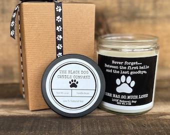 Dog Sympathy Candle, Dog Bereavement Gift, Loss of a dog gift