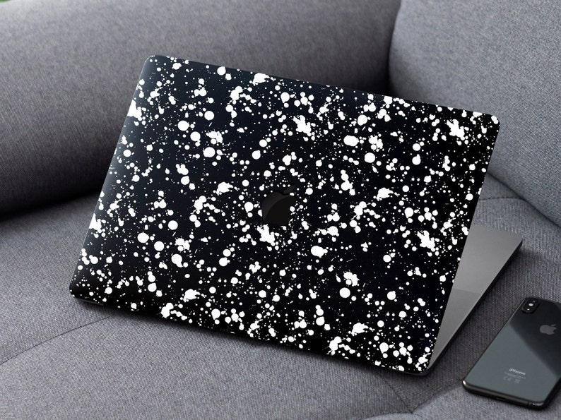 MacBook Skin White Dots Abstract Vinyl Decal MacBook 11 13 15 inch MacBook Retina MacBook Pro Mac Sticker Gift Vinyl Wrap