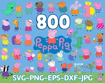 peppa pig family svg