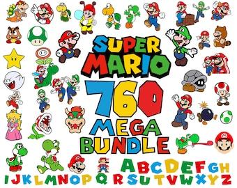 760 Super Mario Svg, Mario Bros Svg, Super Mario Png, Super Mario Svg Bundle, Super Mario Font Svg, Super Mario Font Clipart, Luigi Svg