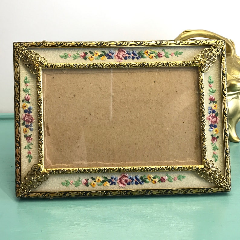 5 X 7 inches Petit Point Embroidery Picture Frame