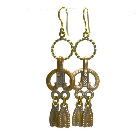 Bronze Dangle Earrings (Kamala Koru)