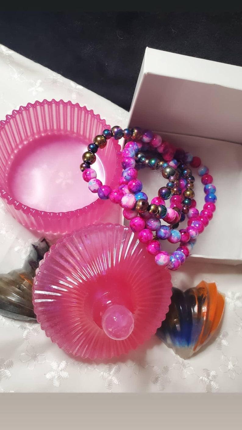 Crystal Pink jewelry box vintage style jewelry box keepsake