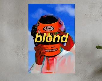 Frank Ocean, Blonde, Album Art Poster, Gift Idea, Home Decor, Multiple Sizes