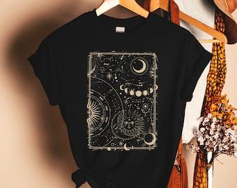 Astrology Shirt, Sun And Moon Shirt, Funny Yoga Shirt, Yoga Top, Workout Shirt, Namaste, Inspirational Motivational Tee, Mindfulness Shirt