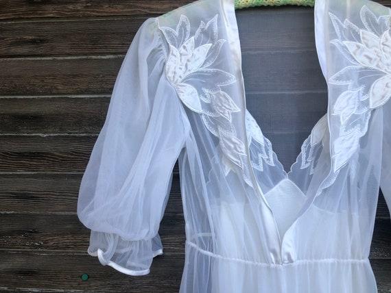 Vintage White Nightgown Lingerie Set