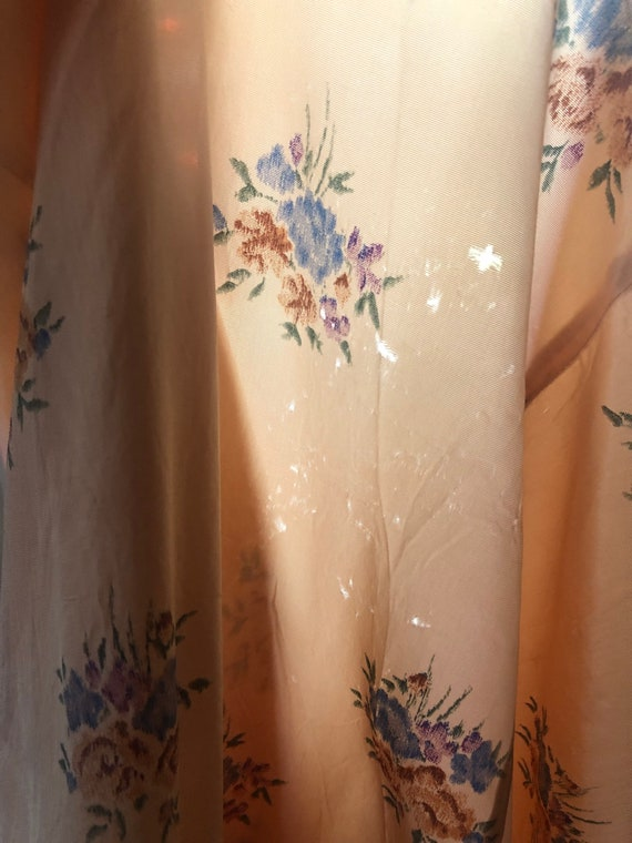 Peach Vintage Floral Summer Dress - image 4