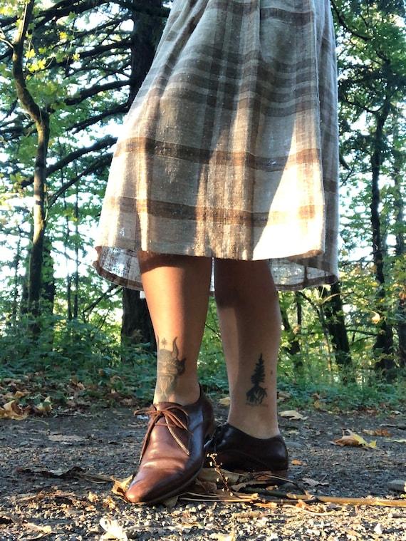 Vintage Plaid A-Line Skirt - image 3