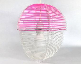 Acorn String Art Pendant Lamp Kit | Handmade Lasercut Hanging Chandelier  |  Modern Design  |  Décor  |  Blacklight Art  |  Fluorescent