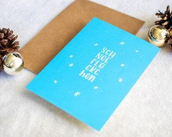 """Postkarte """"Schneeflöckchen"""""""