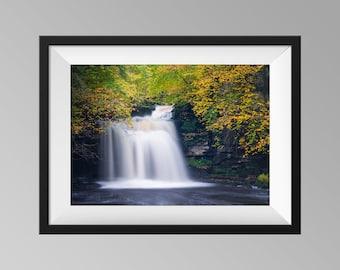 Cauldron Falls / West Burton Falls Waterfall Print, Yorkshire Landscape Photography Wall Art