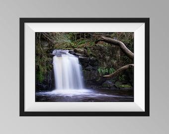 Thomason Foss Waterfall Print, Yorkshire Landscape Photography Wall Art, Goathland Fine Art Photo