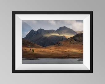 Langdale Pikes, Lake District National Park - Cumbria Landscape Photography, Fine Art, Mountain Wall Art