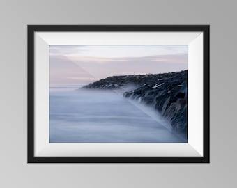 Rocks at Staithes, UK - Yorkshire Landscape Photography, Seascape Fine Art, Long-Exposure Wall Art