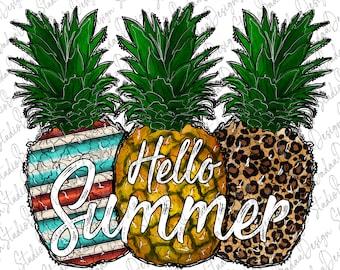 Summertime png Waterslide PNG Files Summer Sublimation Designs Downloads Digital Download Hello Summer PNG Tie Dye Pineapple