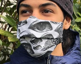 The eyes have it (Iris Luckhaus hybrid cloth mask)