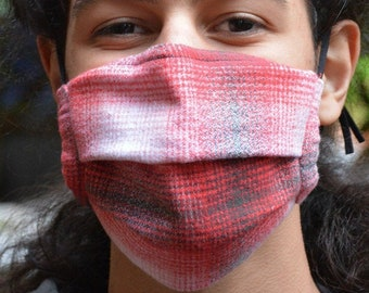 Plaid flannel mask (Iris Luckhaus hybrid cloth mask)