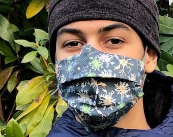 Handmade neuron mask (Iris Luckhaus hybrid cloth mask)
