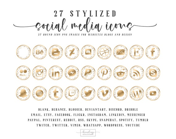 Instagram Facebook Pinterest Burnt Sienna Terrazzo Social Media Icons for Websites Blogs Canva 27 Beige Social Media Clipart Graphics
