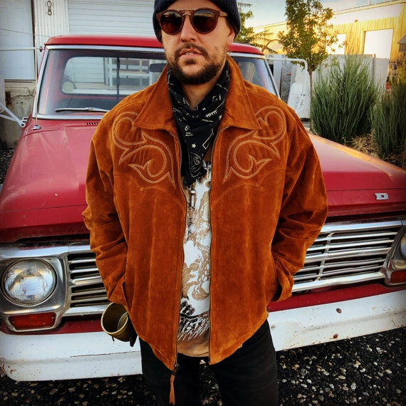 70's Vintage Western Leather Jacket