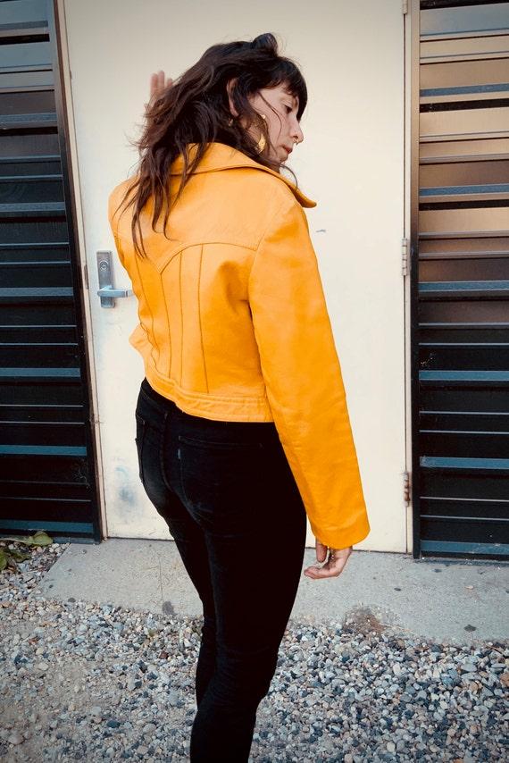 Vintage leather cropped bolero jacket - image 3