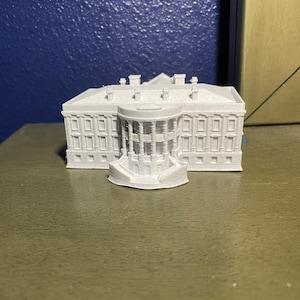 WHITE HOUSE Architecture Paper Model Kit Washington DC Historical Buildings 3D Model United States