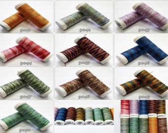 VIGA 80 Multicolor 150 m Sewing yarn Overlock yarn All-round 100% polyester Colors