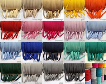 2, 5, 10 m rubber band wide 7 mm color choice