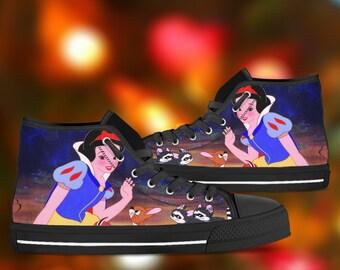 Snow white converse | Etsy