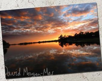 Kakadu Sunrise photo greeting card: Yellow Water Dawn