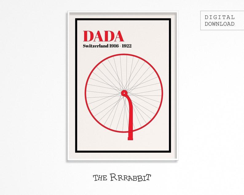 DADAISM ART Printable Poster Red  Art Movement Poster  image 0