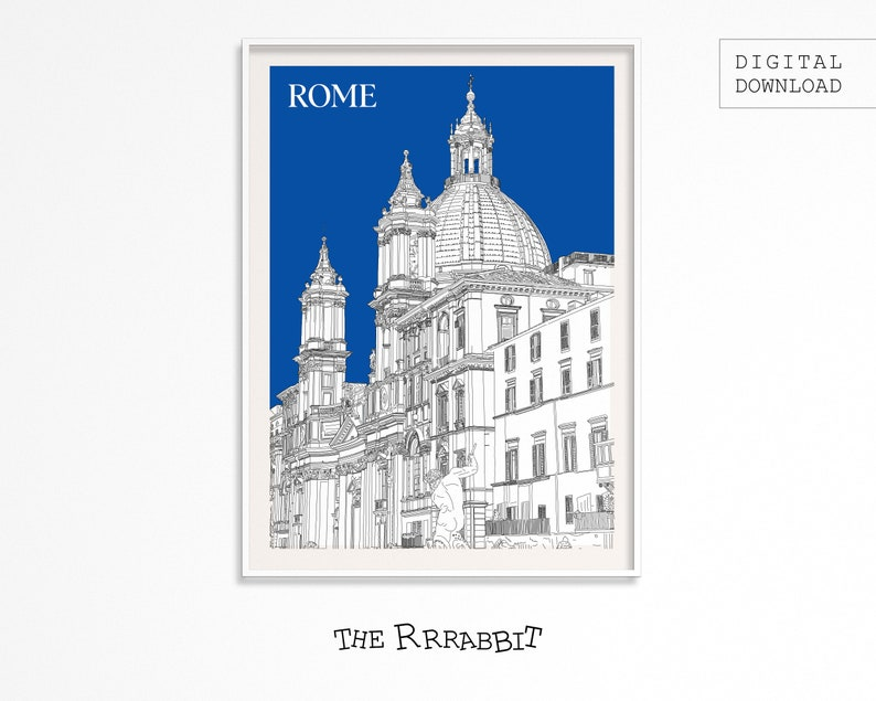 Rome  Italy  Printable Wall Art Of Rome  Rome Travel Poster image 0