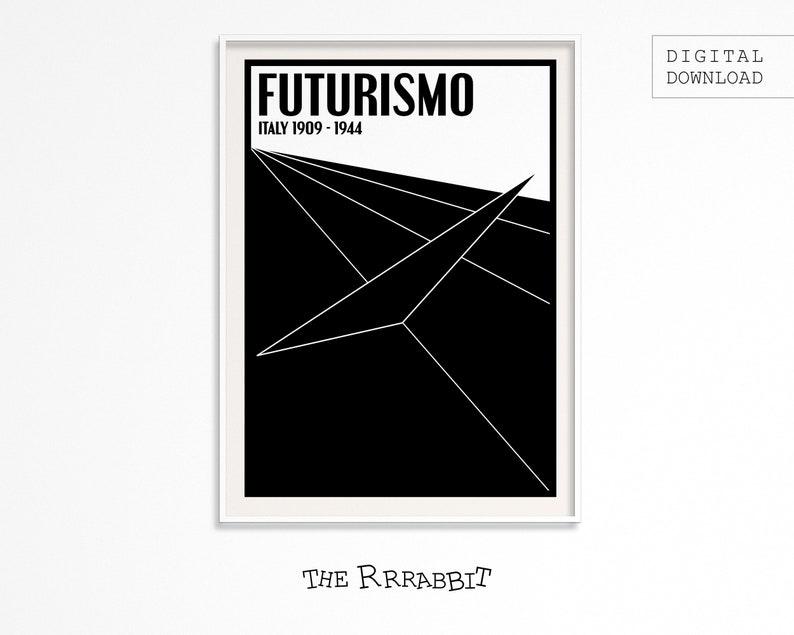 FUTURISM ART Printable Poster  Art Movement Poster  image 0