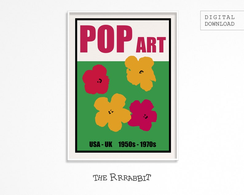 POP ART Printable Poster  Art Movement Poster  Printable image 0