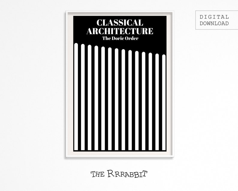 Classic Architecture Printable  Doric Order Poster  image 0