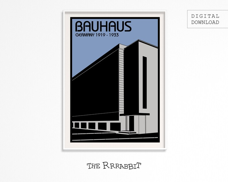 BAUHAUS ART Printable Poster  Art Movement Poster  Printable image 0