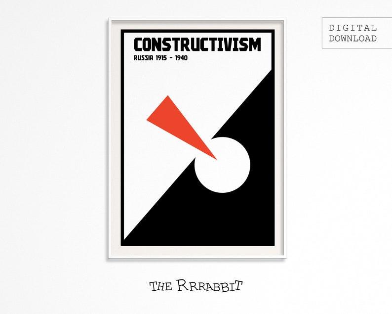 CONSTRUCTIVISM ART Printable Poster  Art Movement Poster  image 0