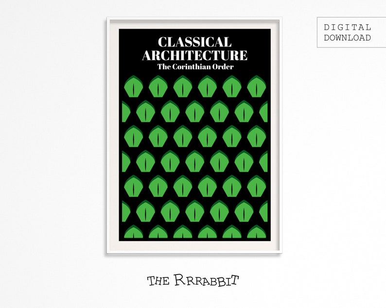 Classic Architecture Printable  Corinthian Order Poster  image 0