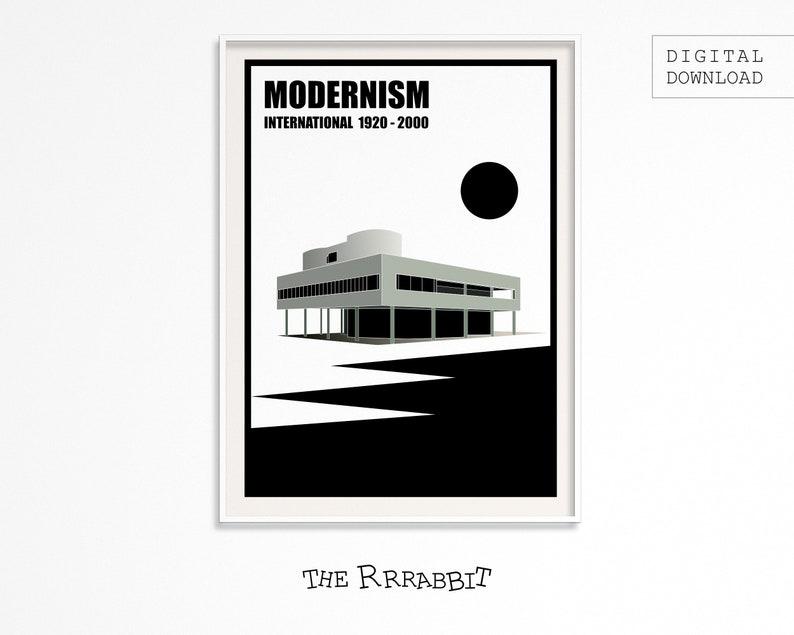 MODERNISM ART Printable Poster  Full Colour Version  Art image 0