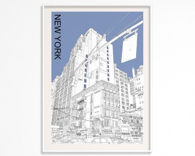 New York Printable Poster  New York City Print  New York image 1